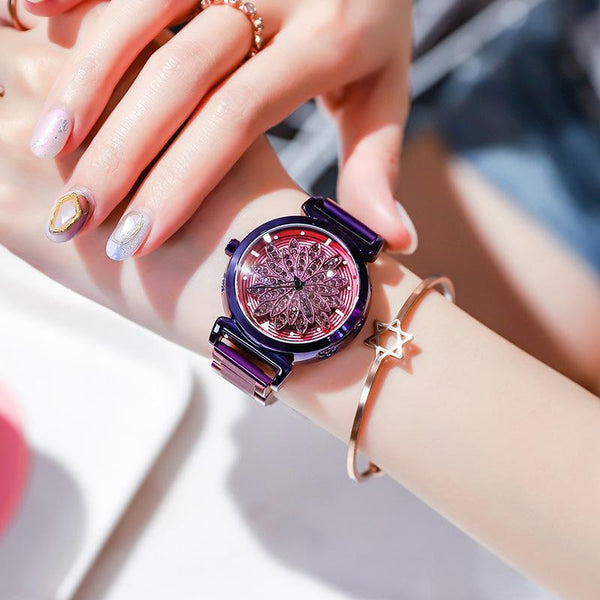 Trendinggate.com Purple shell purple skin 2019New YJ No. 6 Time Running Watch Women Watch Student Fashion Network