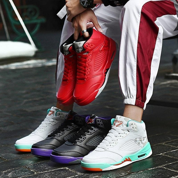 Trendinggate.com 2019Spring and autumn new aj1 basketball shoes set casual sports shoes men's high help wear-resistant Yantian running men's shoes