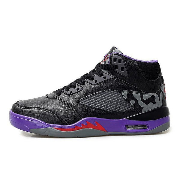 Trendinggate.com Black and purple / 39 2019Spring and autumn new aj1 basketball shoes set casual sports shoes men's high help wear-resistant Yantian running men's shoes