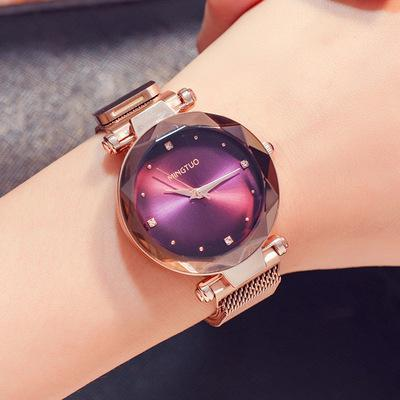 Trendinggate.com T1801CMei Jin Zi Mian 2019The new shake sound net red with the same water drill star watch women's fashion Korean version waterproof simple magnetic suction female watch