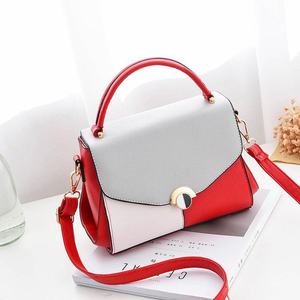 Trendinggate.com 酒红色 2019The new women's bag Korean version of the simple fashion one-shoulder hand-held women's bag manufacturers directly sell a bag bags