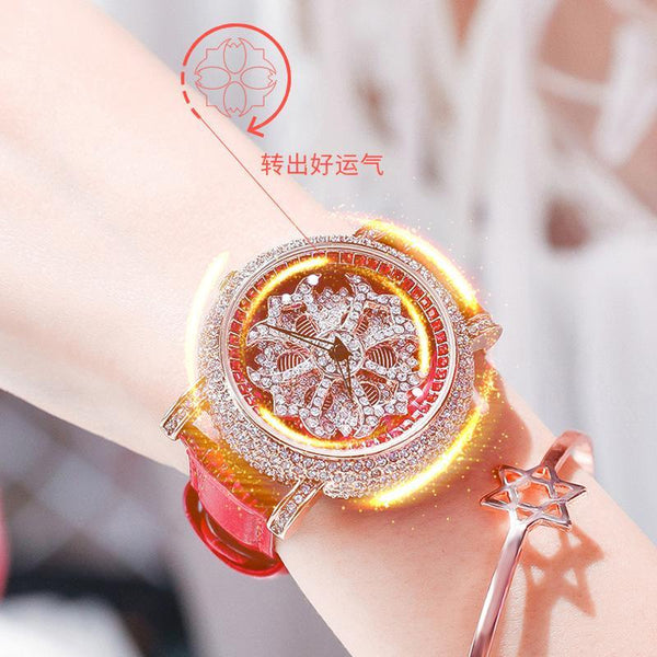 Trendinggate.com 2019The new YJ will run the watch on the 6th, ladies, Internet celebrity watches, diamond set, popular Douyin, the same model.