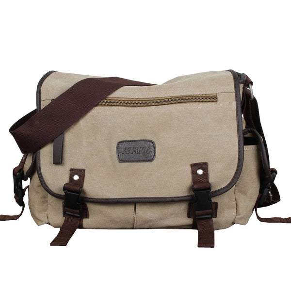 Korean men canvas shoulder bag leisure bag man bag fashion school bags messenger bags factory direct supply