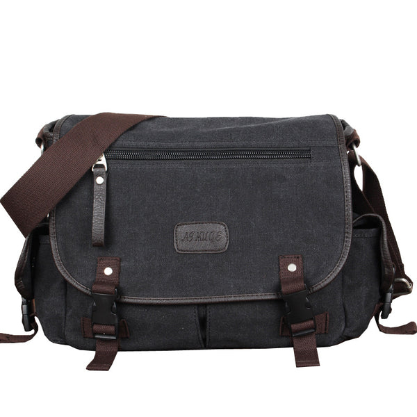Multi-Zipper Elegant Messenger Bag