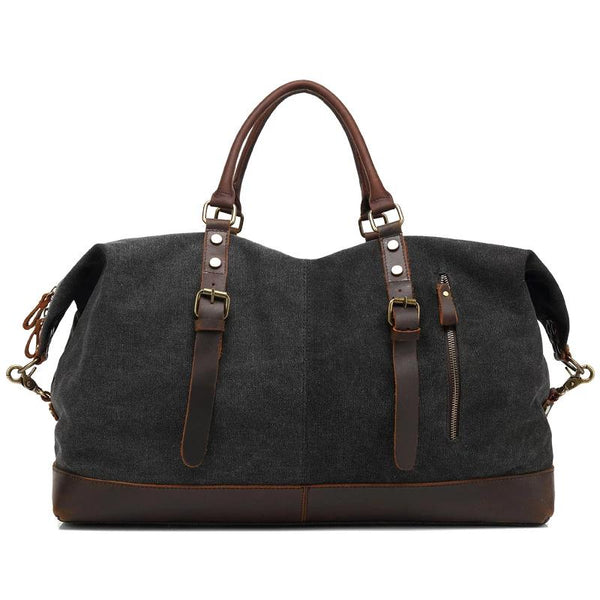 High-Capacity Chic Canvas Messenger Bag