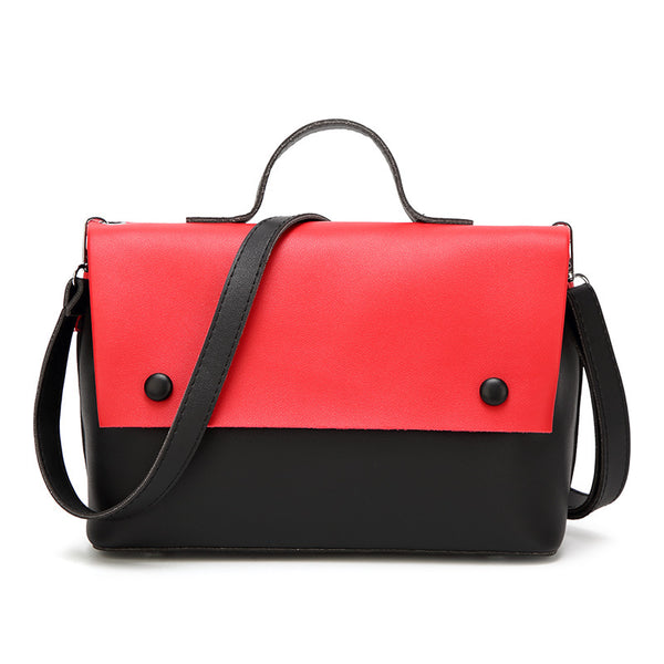 Cross Retro Hand-Held Leather Handbag