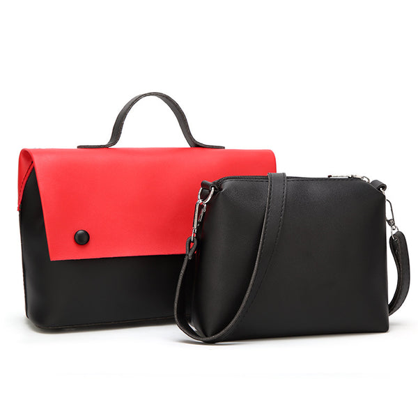 Wholesale Guangzhou women's bag 2019 new Korean version of the fashion stitching women's bag cross-border hand-held slanted shoulder sub-mother bag