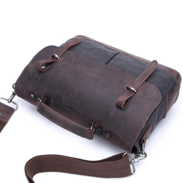Men's retro canvas messenger bags leisure backpack original Messenger bag man bag shoulder portable tide Amazon