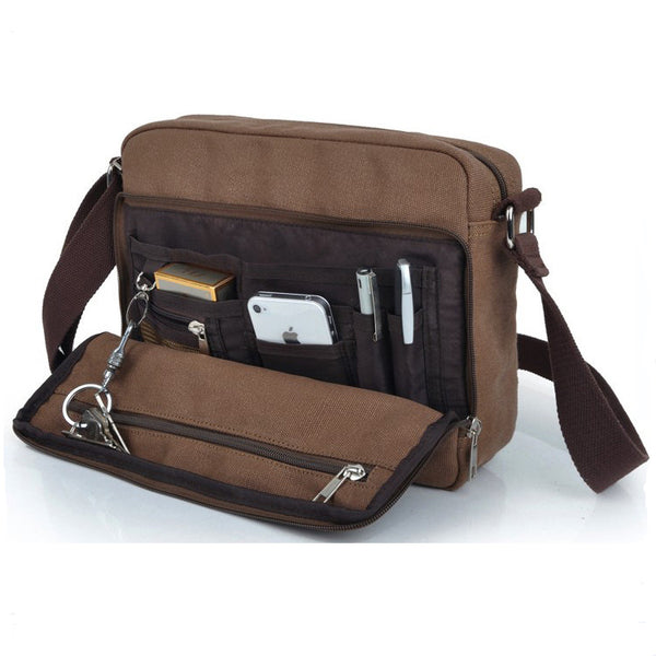 harwish M multifunction canvas shoulder bag messenger bag Messenger bag over cycling