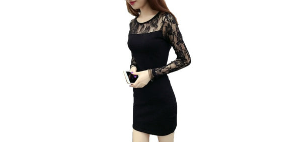 2018 new summer package hip lace dress Girls long section of gauze long sleeve base skirt wholesale cross-border trade
