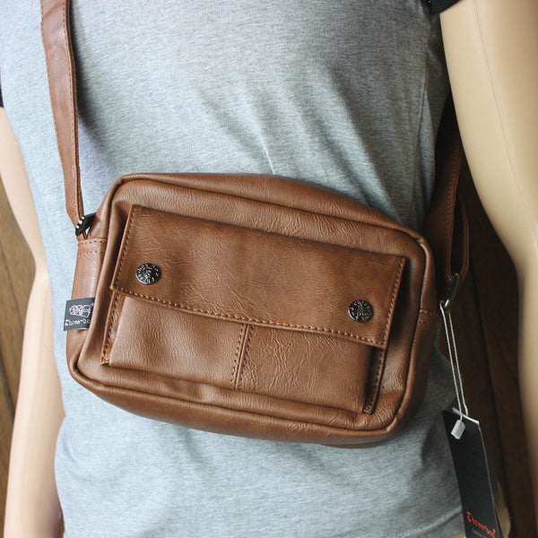 Small Casual Leather Messenger Bag