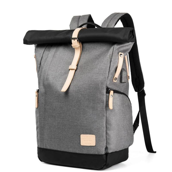 The new Korean version of casual outdoor travel backpack shoulder bag man bag large capacity multi-function computer backpack Oxford batch