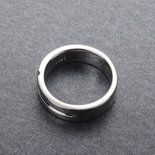 Trendinggate.com 925Silver fashionable simple Korean cross ring. Men's all-way ring. Men's street decoration.
