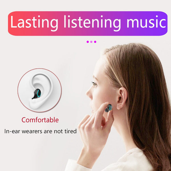 Q67 TWS Wireless Earbuds 3D Stereo Mini Bluetooth Earphone 5.0 With Dual Mic Sports Waterproof Earphones Auto Pairing Headset