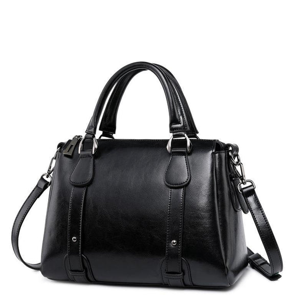 Trendinggate.com Black Actually sold out women's bag 2019 new fashion leather women's bag cow leather women's one shoulder bag