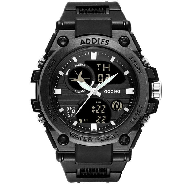 ADDIES simple black band adds a sporty feel to the design