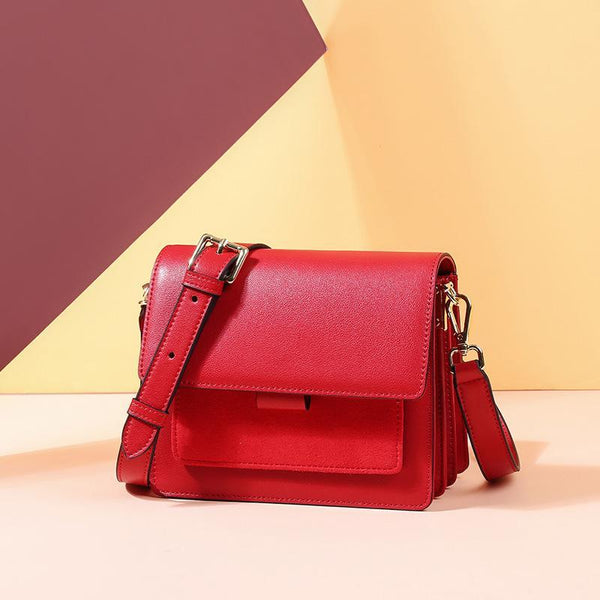 Trendinggate.com Bag for women 2019 new fashionable leather bag for women large capacity organ bag for women leather small square bag for cross-border bag customization (Red garnet)
