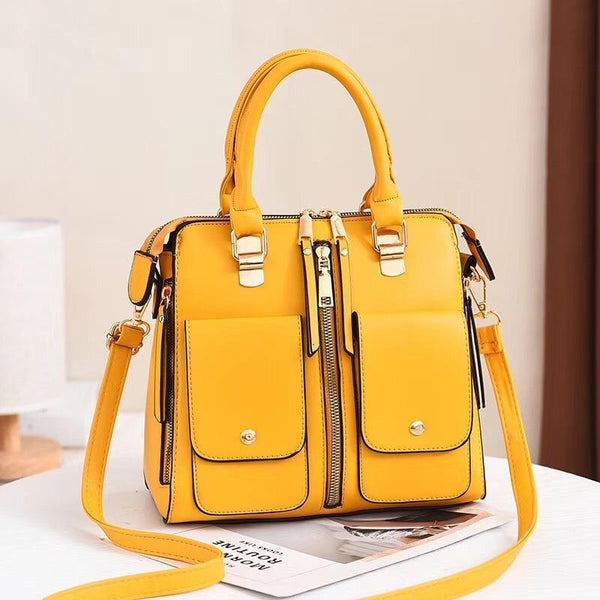 Trendinggate.com Ginger Bag Girl 2019 new elegant one-shoulder bag stylish casual stiletto bag trendy mom bag PU leather handbag