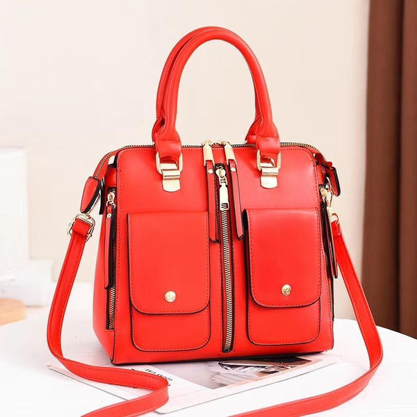 Trendinggate.com gules Bag Girl 2019 new elegant one-shoulder bag stylish casual stiletto bag trendy mom bag PU leather handbag