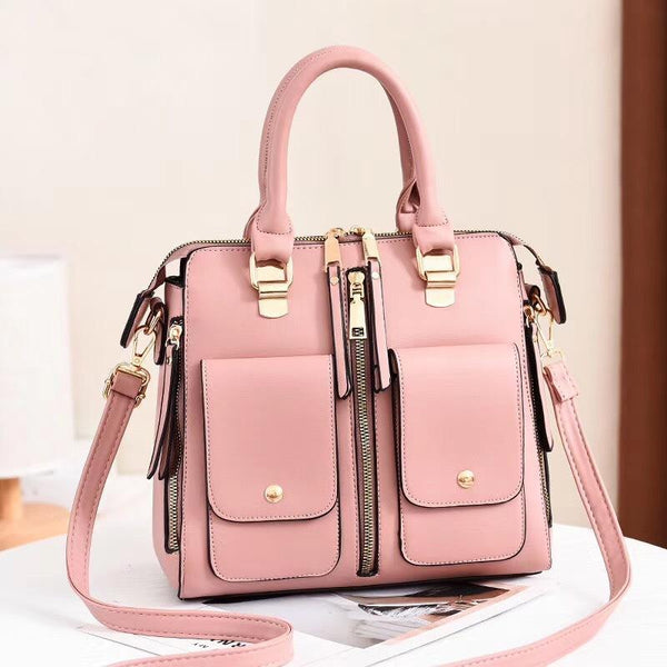 Trendinggate.com Pink Bag Girl 2019 new elegant one-shoulder bag stylish casual stiletto bag trendy mom bag PU leather handbag