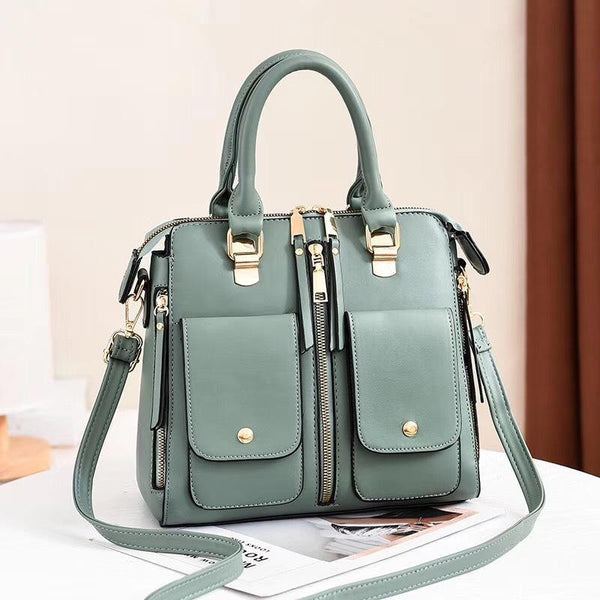 Trendinggate.com reseda Bag Girl 2019 new elegant one-shoulder bag stylish casual stiletto bag trendy mom bag PU leather handbag