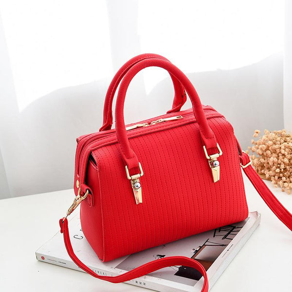 Trendinggate.com 红色 Bag Girl 2019 new fashion women's bag retro air one-shoulder slant edith bag sweet PU handbag one-piece hair