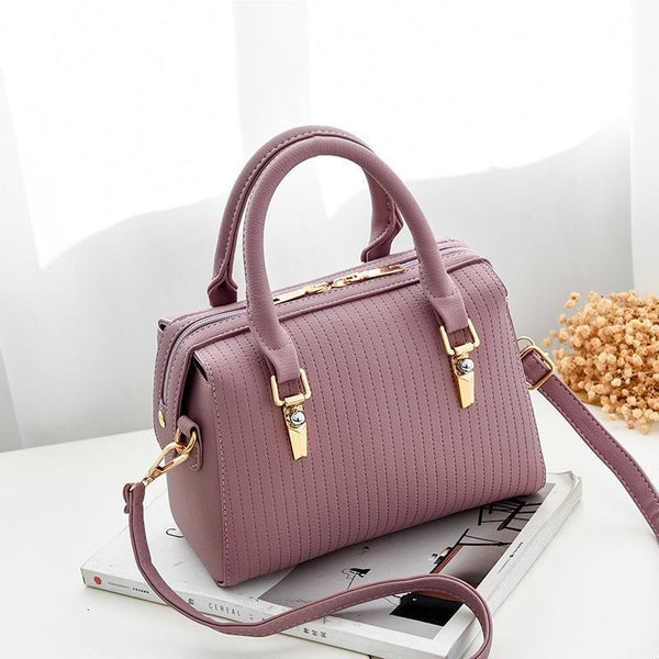 Trendinggate.com Bag Girl 2019 new fashion women's bag retro air one-shoulder slant edith bag sweet PU handbag one-piece hair