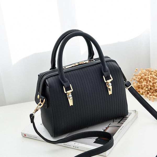 Trendinggate.com Black Bag Girl 2019 new fashion women's bag retro air one-shoulder slant edith bag sweet PU handbag one-piece hair