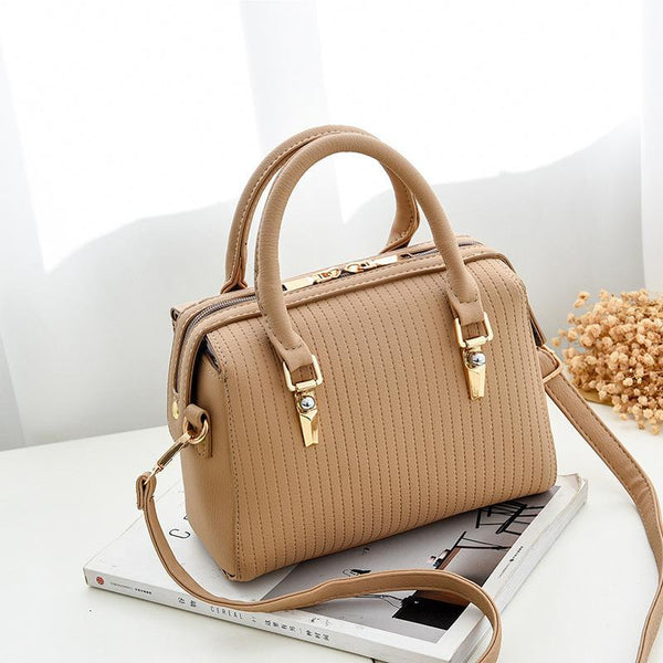 Trendinggate.com brown Bag Girl 2019 new fashion women's bag retro air one-shoulder slant edith bag sweet PU handbag one-piece hair