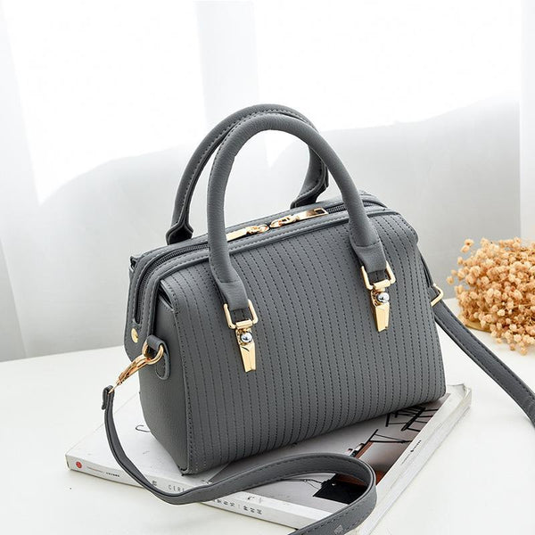 Trendinggate.com Light grey Bag Girl 2019 new fashion women's bag retro air one-shoulder slant edith bag sweet PU handbag one-piece hair
