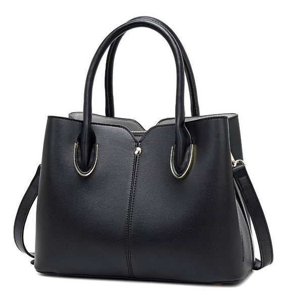 Trendinggate.com black Bag girl 2019 new leather women's bag European and American style fashion women's hand-held stiletto bag leather shoulder bag
