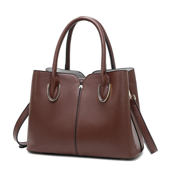 Trendinggate.com brown Bag girl 2019 new leather women's bag European and American style fashion women's hand-held stiletto bag leather shoulder bag