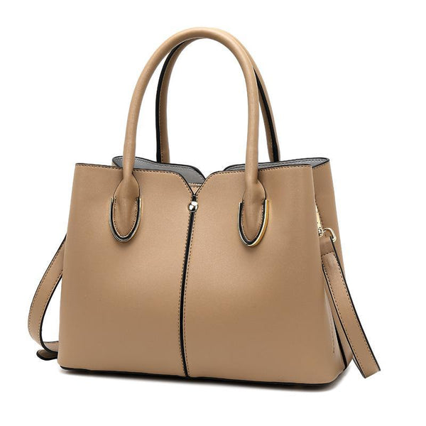 Trendinggate.com Khaki Bag girl 2019 new leather women's bag European and American style fashion women's hand-held stiletto bag leather shoulder bag