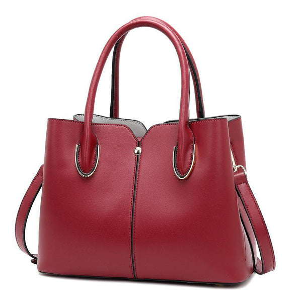Trendinggate.com Red Bag girl 2019 new leather women's bag European and American style fashion women's hand-held stiletto bag leather shoulder bag