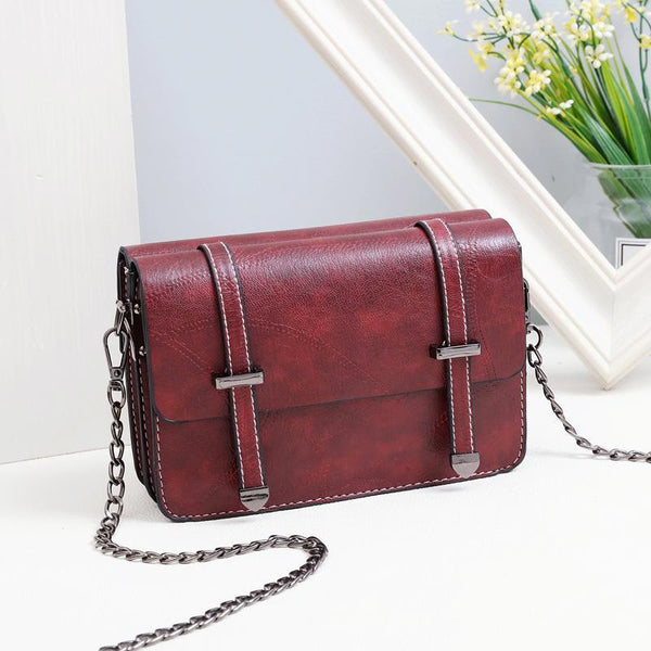 Trendinggate.com Wine red Bag girl 2019 summer new bevel bag Hong Kong wind chain postman package Korean version of the stylish mobile phone small square bag