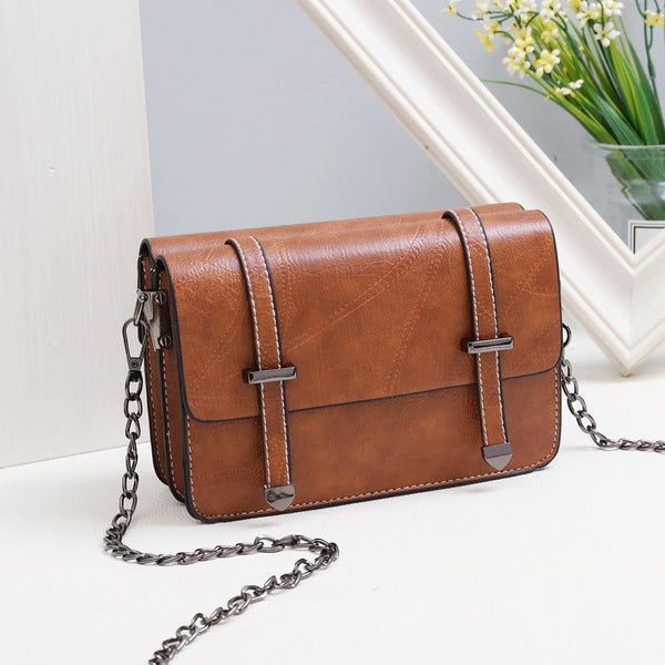 Trendinggate.com Yellow Bag girl 2019 summer new bevel bag Hong Kong wind chain postman package Korean version of the stylish mobile phone small square bag
