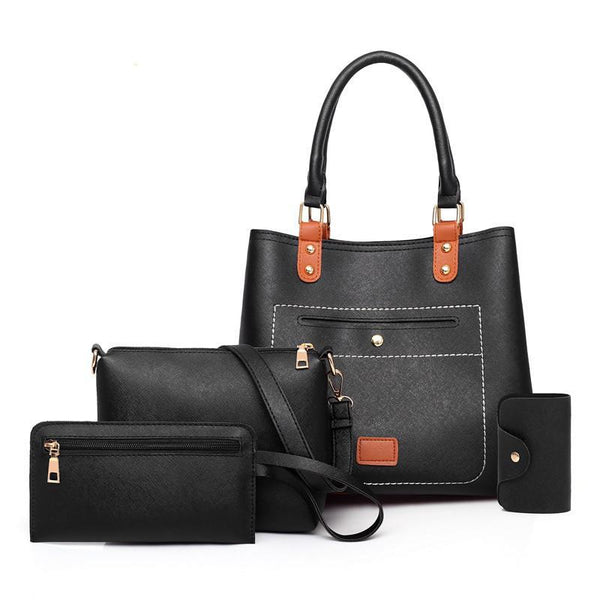 Trendinggate.com black Bag woman 2019 New fashion handbags women pu woman handbag slanted