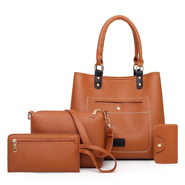 Trendinggate.com brown Bag woman 2019 New fashion handbags women pu woman handbag slanted