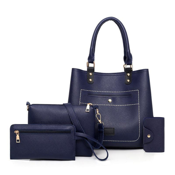 Trendinggate.com Navy Blue Bag woman 2019 New fashion handbags women pu woman handbag slanted