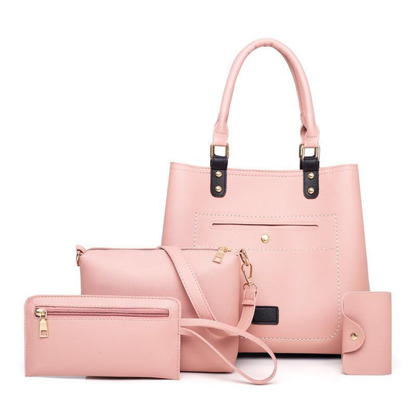 Trendinggate.com Pink Bag woman 2019 New fashion handbags women pu woman handbag slanted