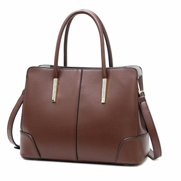 Trendinggate.com Coffee Bag women 2019 new European and American Style Leather Shoulder Bag Fashion Napa pattern hand-held messenger bag cowhide bag