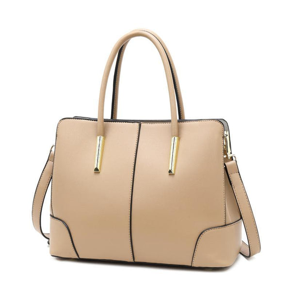 Trendinggate.com Khaki Bag women 2019 new European and American Style Leather Shoulder Bag Fashion Napa pattern hand-held messenger bag cowhide bag