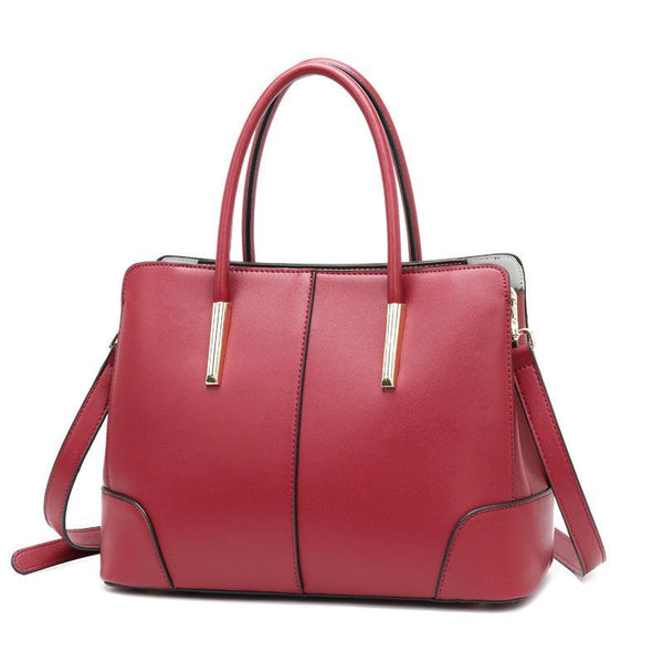 Trendinggate.com Red Bag women 2019 new European and American Style Leather Shoulder Bag Fashion Napa pattern hand-held messenger bag cowhide bag