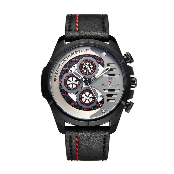 Trendinggate.com Black Shell Scarlet Letter Black Belt BAGARIMen's watch