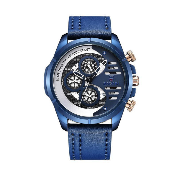 Trendinggate.com Blue shell blue belt BAGARIMen's watch
