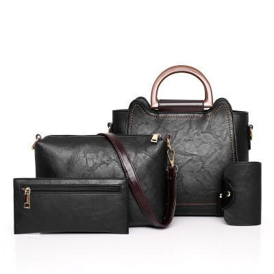 Trendinggate.com Black bagsNew 2019 new fashion mother pack multi - piece one - shoulder bag oblique satchel womenstebags.