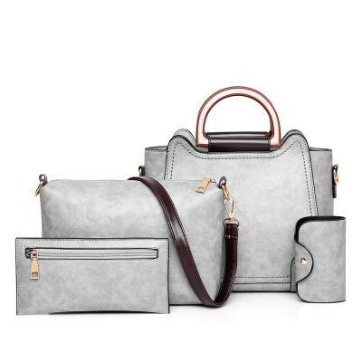 Trendinggate.com Light grey bagsNew 2019 new fashion mother pack multi - piece one - shoulder bag oblique satchel womenstebags.