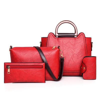 Trendinggate.com Red bagsNew 2019 new fashion mother pack multi - piece one - shoulder bag oblique satchel womenstebags.