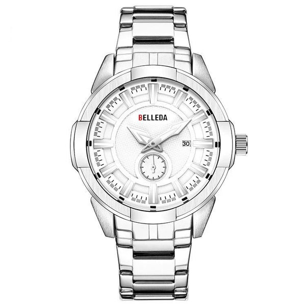 Trendinggate.com Men's Watches White room, white flour BELLEDA an effortless complement shiny silver band for most colors