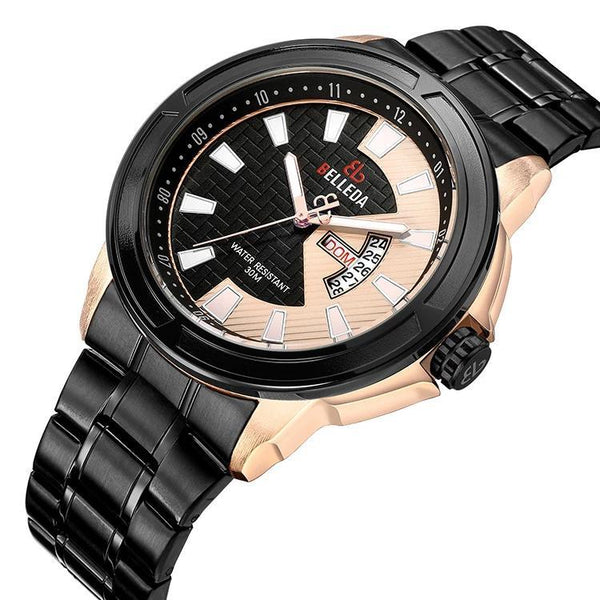 Trendinggate.com Men's Watches BELLEDA black band adds contrast and a classic appeal